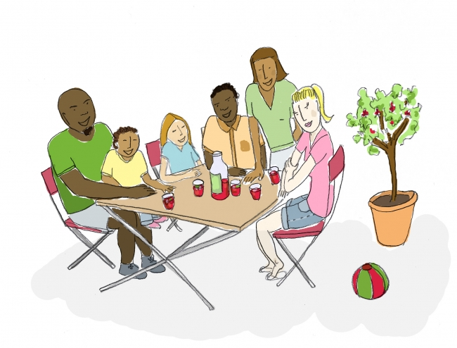 illustration boisson familiale