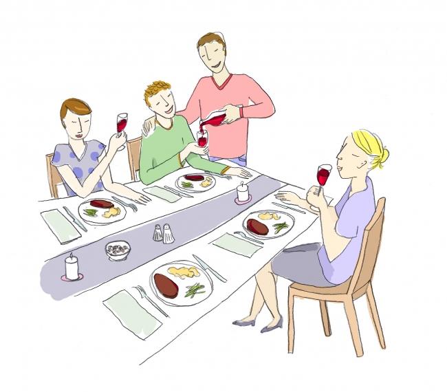 illustration boisson hibiscus pour la table