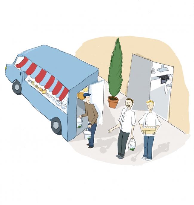 illustration livraison produits frais