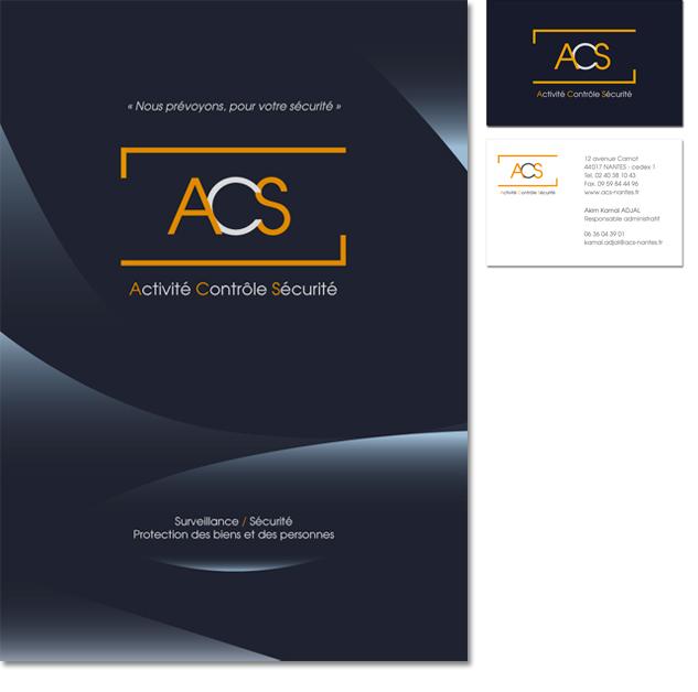 Plaquette et carte de visite ACS