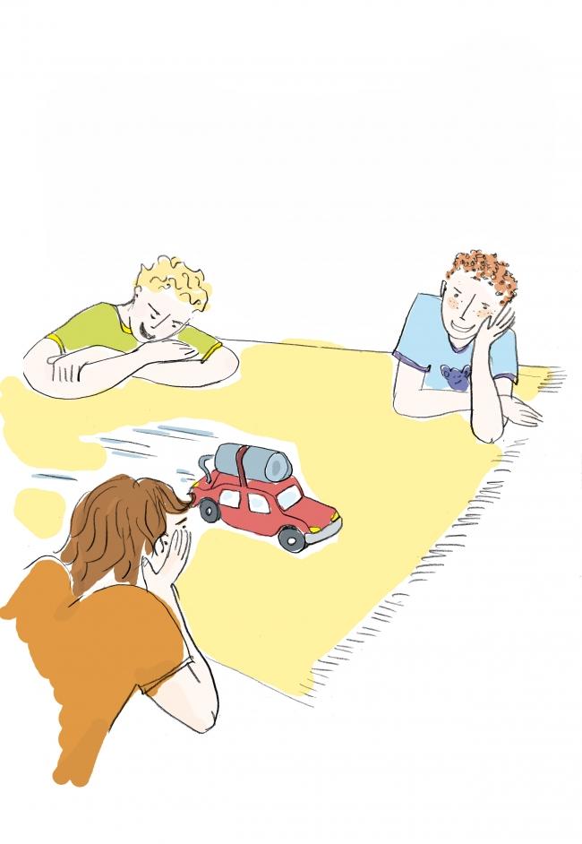 illustration petite voiture